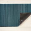 "Chilewich Skinny Stripe Shag Doormat - Turquoise 18"" x 28"""
