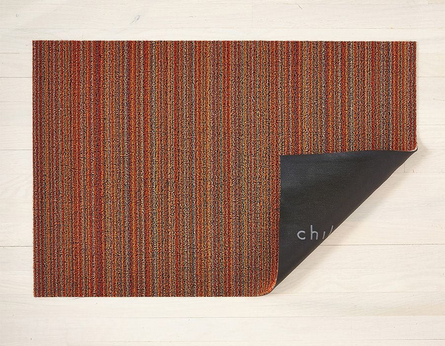 "Chilewich Skinny Stripe Shag Runner - Orange 24"" x 72"""