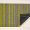 "Chilewich Skinny Stripe Shag Utility Mat- Citron 24"" x 36"""