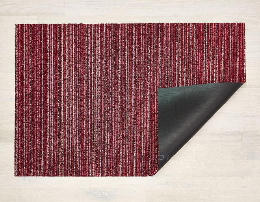 "Chilewich Skinny Stripe Shag Utility Mat - Raspberry 24"" x 36"""