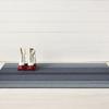 "Chilewich Block Stripe Shag Big Mat- Denim 36"" x 60"""