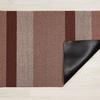 "Chilewich Bold Stripe Shag Door Mat - Peach 18"" x 28"""