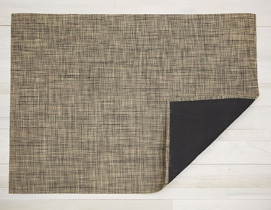 "Chilewich Basketweave Floormat - Bark 46"" x 72"""