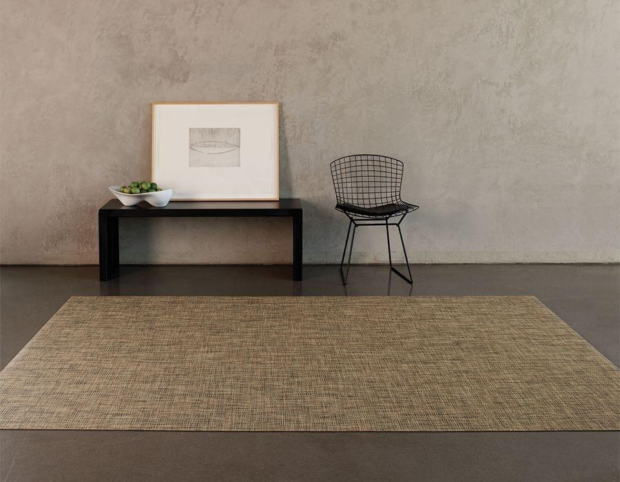 "Chilewich Basketweave Floormat - Bark 72"" x 106"""
