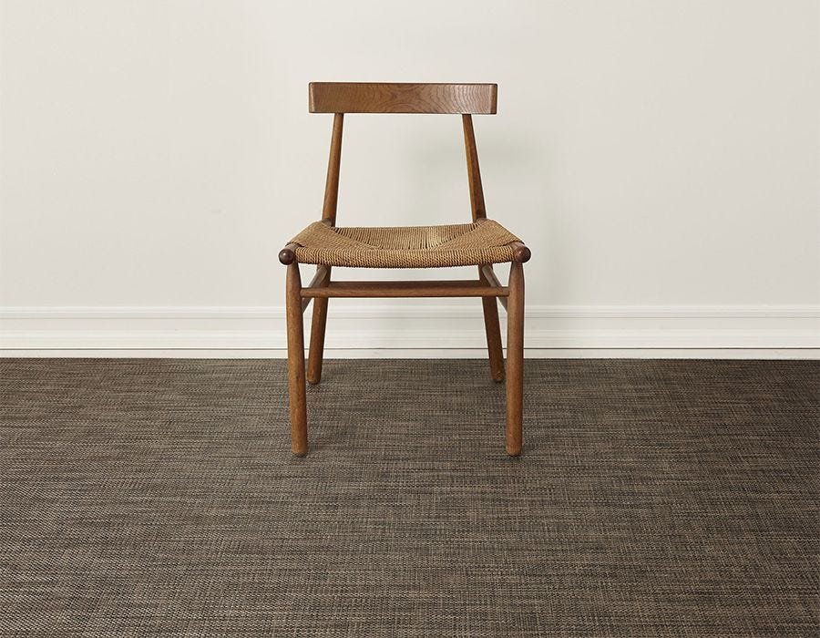 "Chilewich Basketweave Floormat - Earth 72"" x 106"""