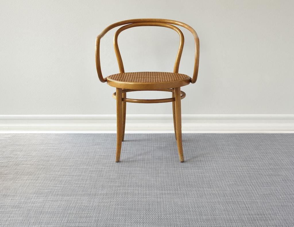 "Chilewich Basketweave Floormat - Shadow 72"" x 106"""