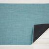 "Chilewich Mini Basketweave Floormat - Turquoise 23"" x 36"""