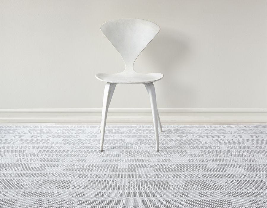 "Chilewich Scout Floormat - Graphite 72"" x 106"""