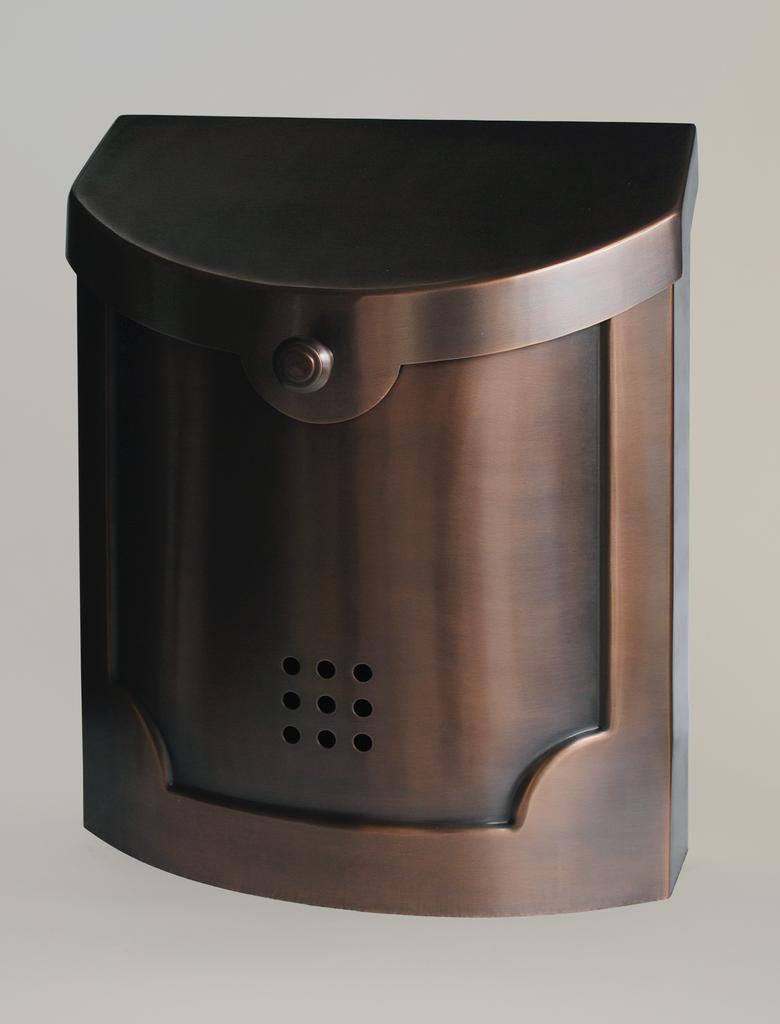 Contemporary Mailbox Antique Copper