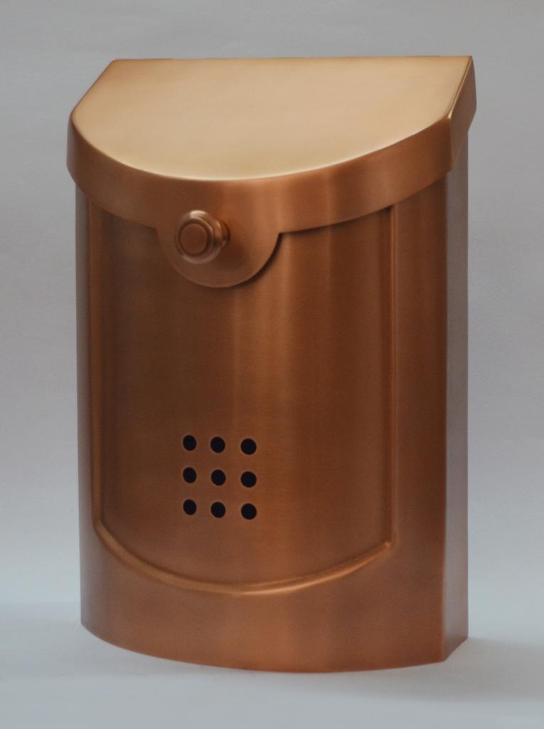 Contemporary Mailbox Copper