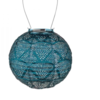"Wave Globe Solar Lantern - Ink 8"""