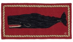 Whale Rug - Red & Black 2' X 4'