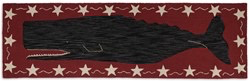 Whale Runner - Red & Black 2.5' x 8'