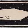 Starry Night Whale Rug - Blue & White 2' x 4'