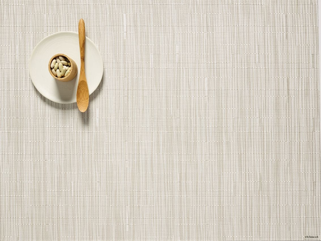 "Chilewich Bamboo Table Mat - Coconut 14"" x 19"""
