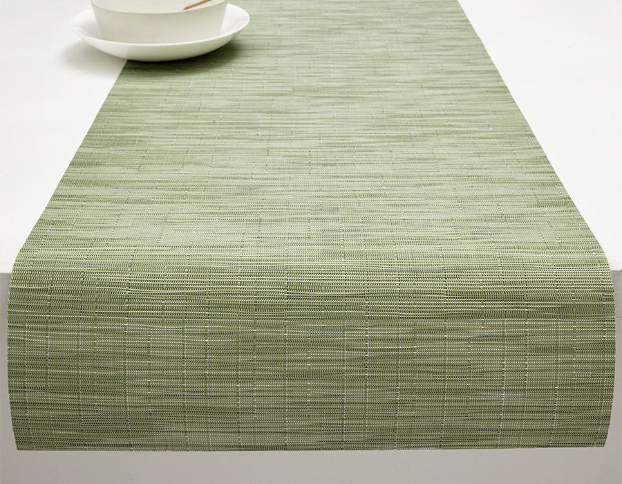 "Chilewich Bamboo Table Runner - Spring Green 14"" x 72"""