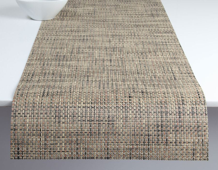 "Chilewich Basketweave Table Runner Bark 14"" x 72"""