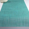 """Chilewich Mini Basketweave Table Runner - Turquoise 14"""" x 72"""""""