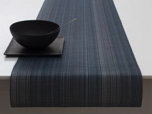 "Chilewich Multi Stripe Table Runner - Chambray 14"" x 72"""