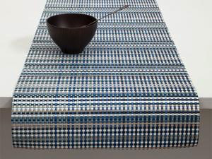 """Chilewich Grid Table Runner - Blue 14"""" x 72"""""""