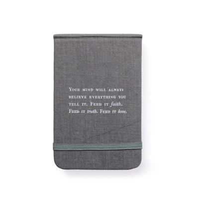 """Fabric Notebook - Faith, Truth & Love 3.5"""" x 5.5"""""""