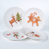 """Melamine """"Paper"""" Cookie Plates - Christmas 7.5"""" Set of 4 Assorted"""