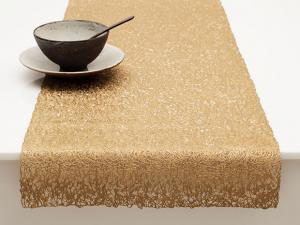 "Chilewich Scribble Table Runner - Brass 14"" x 72"""