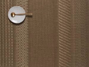 """Chilewich Mixed Weave Luxe Table Mat - Gold 14"""" x 19"""""""