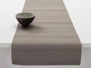 "Chilewich Mixed Weave Luxe Table Runner - Topaz 14"" x 72"" (D)"