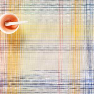 """Chilewich Plaid Table Mat - Sorbet 14"""" x 19"""""""