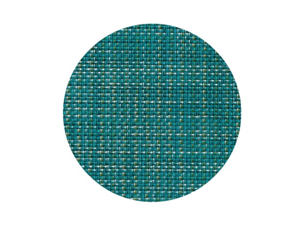 Chilewich Mini Basketweave Round Coasters (Set of 4) - Turquoise