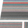 "Chilewich Mixed Stripe Shag Doormat - Candy 18"" x 28"""