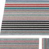 "Chilewich Mixed Stripe Shag Big Mat - Candy 36"" x 60"""