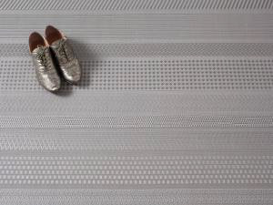 """Chilewich Mixed Weave Floormat - Topaz 72"""" x 106.5"""""""