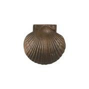 """Scallop Shell Standard Door Knocker - 3.75""""H x 4""""W x 1.5""""D"""