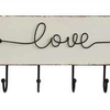 """Love"" Arrow MDF/Metal Wall Hanger w/ 6 Hooks 22.5""L x 8.5""H"