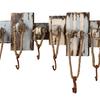 "Bulkhead & Rope Wall Rack w/6 Hooks - 32.5""L x 10""H"