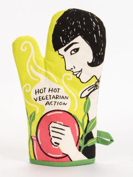 Hot Vegetarian Action Oven Mitt
