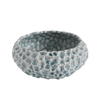 "Ceramic Planter, Light Blue w/ Texture 9.25"" Round x 4:H"