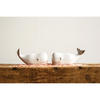 "Dolomite Whale Salt & Pepper Shakers, White, Set of 2 4.25""L"