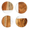 """4"""" Round Marble & Mango Wood Coasters, Set of 4"""