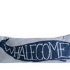 "Cotton Pillow ""Whalecome"" 32""L x 12""H"