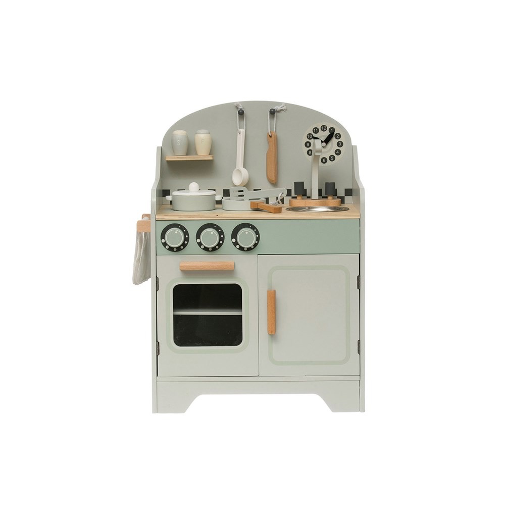 "Wood Kitchen Playset, Set of 9 16.25""W x 10.25""D x 23""H"