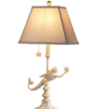 "Ivory Mermaid Table Lamp 13""W x 13""D x 27.5""H"