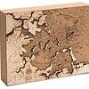 "Boston Harbor Cork Map 8"" x 10"""