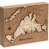 "Martha's Vineyard Cork Map 8"" x 10"""