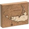 """Nantucket Cork Map 8"""" x 10"""""""