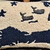 """Cape Cod Hooked Wool Pillow 14"""" x 20"""""""