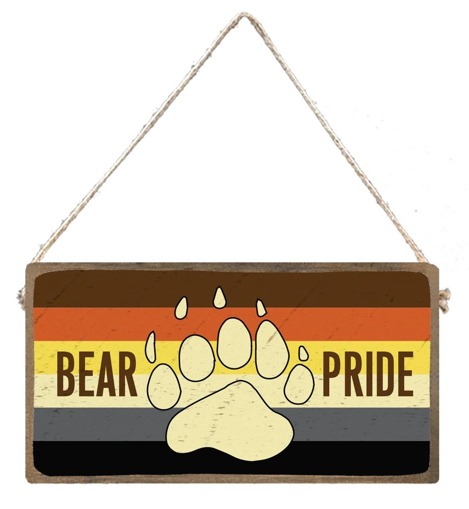Signs of Hope - Bear Pride Rainbow Plank