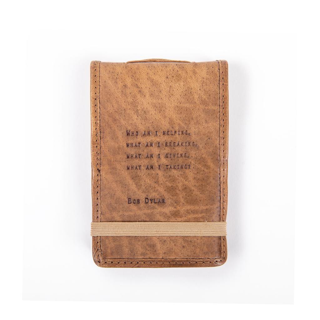 "Leather Journal Mini - Bob Dylan 4"" x 6"""